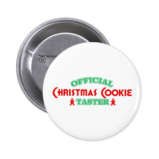 Official Christmas Cookie Taster 6 Cm Round Badge