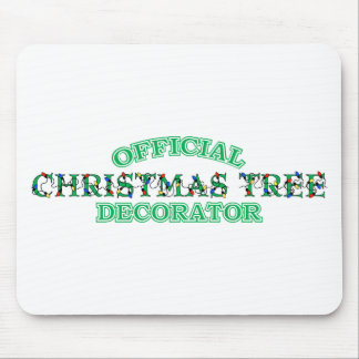 Official Christmas Tree Decorator Mouse Pads