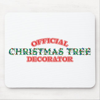 Official Christmas Tree Decorator (Red) Mousepad