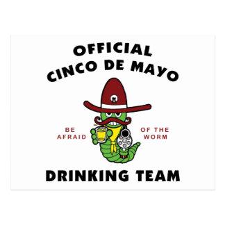 Official Cinco de Mayo Drinking Team Post Card