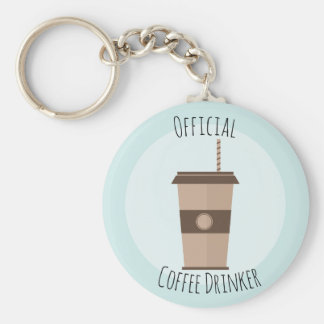 Official Coffee Drinker Keychain