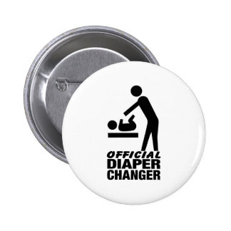 Official Diaper Changer 6 Cm Round Badge