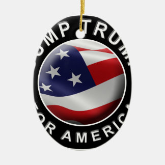 Official DumpTrumpforAmerica Logo Ceramic Oval Decoration