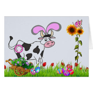 Official Easter Cow Card