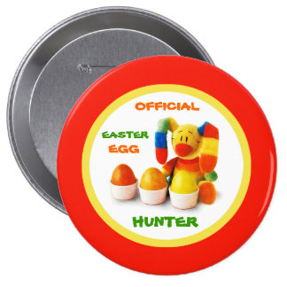 Official Easter Egg Hunter Easter Gift Button Pin