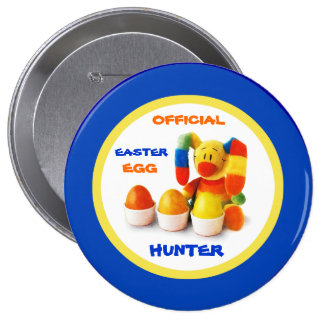 Official Easter Egg Hunter . Easter Gift Button Button