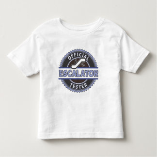 Official Escalator Tester - Blue Toddler T-Shirt