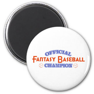 Official Fantasy Baseball Champion 6 Cm Round Magnet