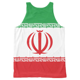 Official Flag of the Islamic Republic of Iran All-Over Print Singlet