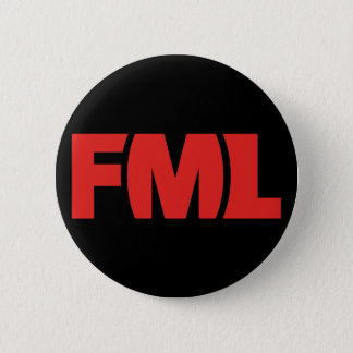 Official FML Badge: FML Red/Black 6 Cm Round Badge