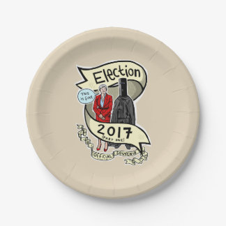 Official GE2017 Laurie Pink Souvenir (paper) Plate 7 Inch Paper Plate