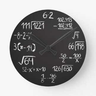 Official Geek Math Analog Wall Clock