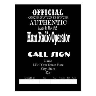 Official Genuine Made USA Ham Radio QSL Card