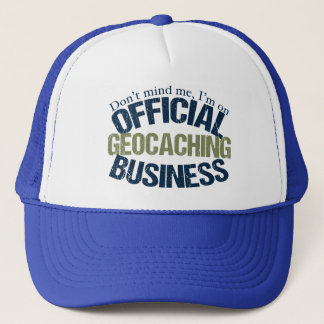 Official Geocaching Business Trucker Hat