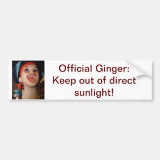 Official Ginger bumper sticker