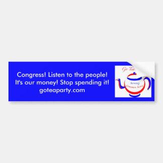 Official Go Tea Party! Bumper Sticker