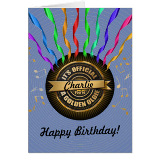 OFFICIAL Golden Oldie Birthday Card