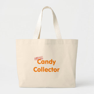Official Halloween candy collector Large Tote Bag