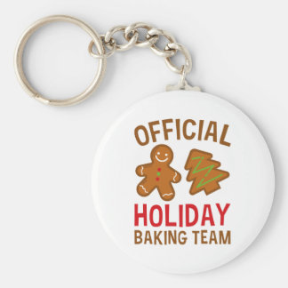 Official Holiday Baking Team Key Ring