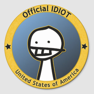 Official Idiot Sticker