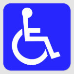 Official International symbol of access Square Stickers
