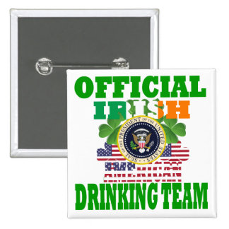 Official Irish american drinking team Pins