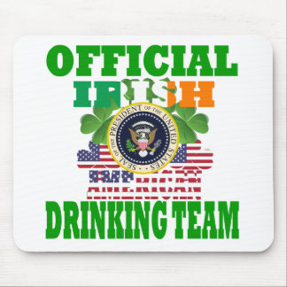 Official Irish american drinking team Mouse Pad