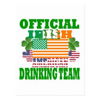 Official Irish American drinking team Postcard