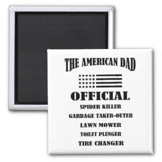 Official Jobs of The American Dad Square Magnet