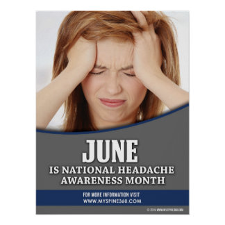 Official JUNE National Headache Awareness Poster
