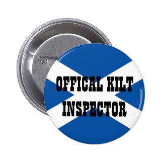 Official Kilt Inspector 6 Cm Round Badge