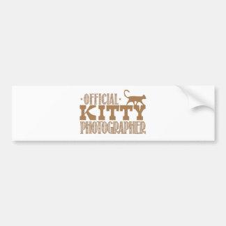 official kitty photographer bumper sticker