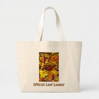 Official Leaf Looker Tote Jumbo Tote Bag