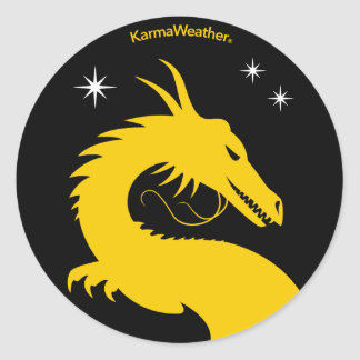 Official logo of KarmaWeather Round Sticker