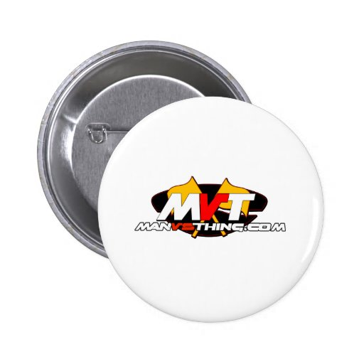 Official Man Vs Thing Logo Pinback Buttons
