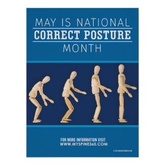 Official May National Correct Posture Month Poster