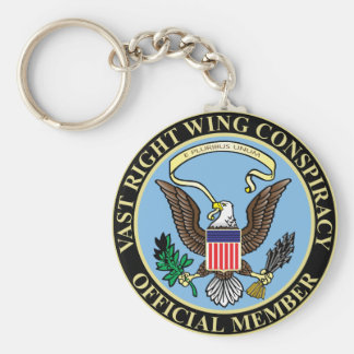 Official Member of The Vast Right Wing Conspiracy Basic Round Button Key Ring