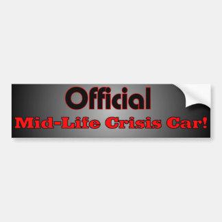 Official Mid Life Crisis Car Bumper Sticker