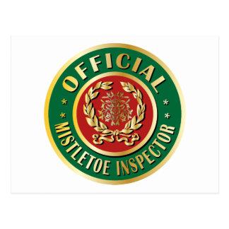 Official Mistletoe Inspector Postcard