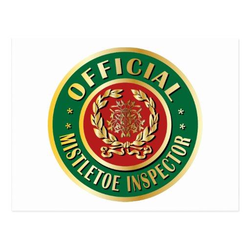 Official Mistletoe Inspector Post Card