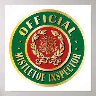 Official Mistletoe Inspector Print