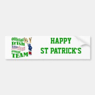 Official N.Y. Irish American drinking team Car Bumper Sticker