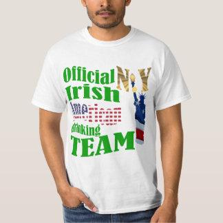 Official New York  Irish American drinking team T-shirt