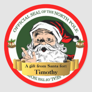 Official North Pole Seal Gift Tag