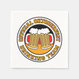 Official Oktoberfest Drinking Team With Flag Paper Napkin