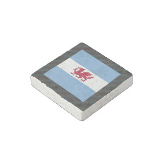 Official Patagonia Flag on stripes Stone Magnet