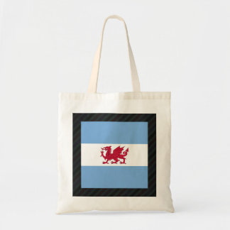 Official Patagonia Flag on stripes Budget Tote Bag