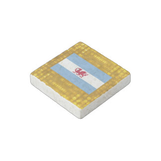 Official Patagonian Flag Stone Magnet