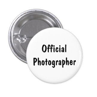 Official Photographer 3 Cm Round Badge
