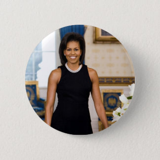 Official Portrait of First Lady Michelle Obama 6 Cm Round Badge